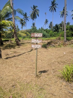 Mutiara Beach sign