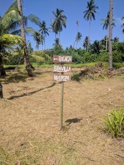 Mutiara Beach sign