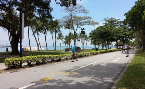 Biking East Coast Park Singapore