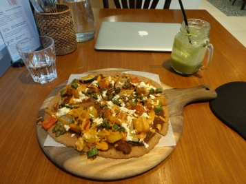 Pizza at Living Cafe